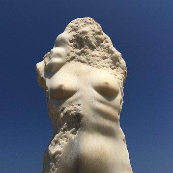 Naxos, Greek, Sculpture, Aphrodite, Island, Greece