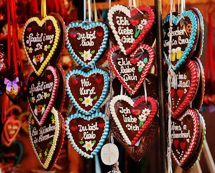 Oktoberfest, Gingerbread, Heart, Love, Folk Festival