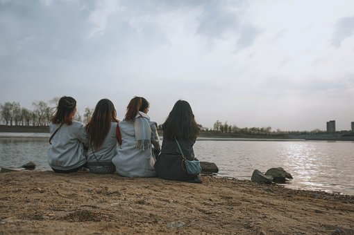 Friendly, Retro, Lake, Girls, Gossip, Outdoor