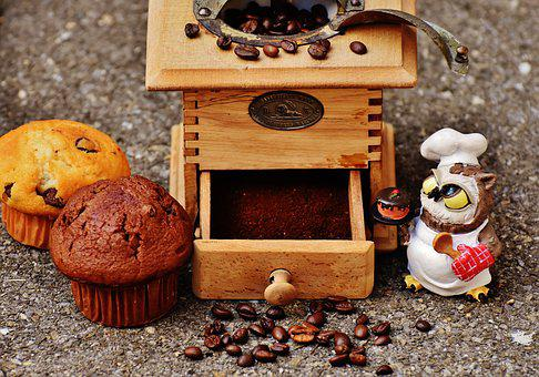 Grinder, Muffin, Owl, Baker, Fig, Cake, Coffee