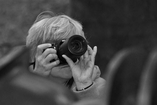 Photographer, Camera, Photograph, Lens, Woman, Person