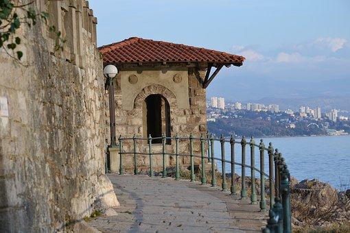 Walk, Sea, Promenade, Opatija, Croatia, Rijeka