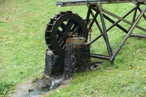 Waterwheel, Pond, Renewable Energy