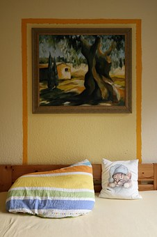 Pillow, Bed, Bedroom, Cozy, Rest, Spring Colors, Image