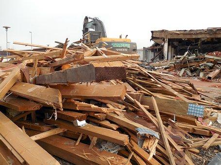 Crash, Demolition, Construction Work, Site, Ruin