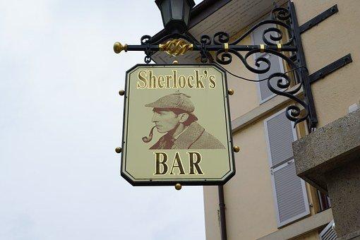 Bar, Shield, Scherlock, Depend, Pub, Cafe, Note, Drama