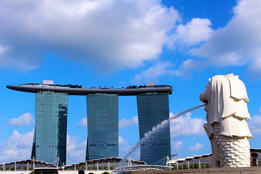 Merlion, Marina Bay Sands Hotel, Singapore