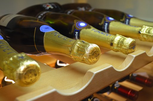 Sparkling Wine, Bar, Bottle, Wine, Alcohol