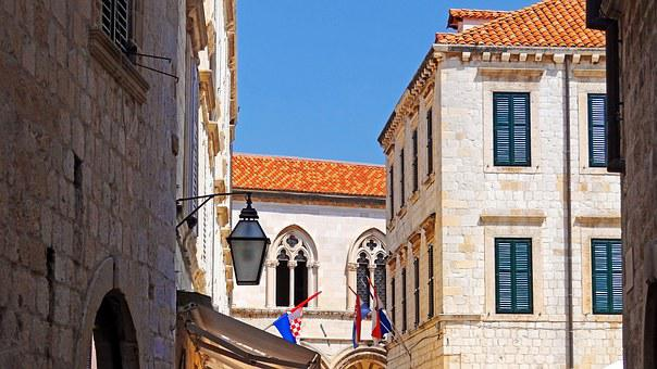 Croatia, Dubrovnik, Houses, Street, City, Europe, Old