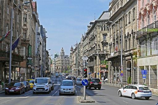 Budapest, Ringroad, Typical, Old Buildings, Balconies