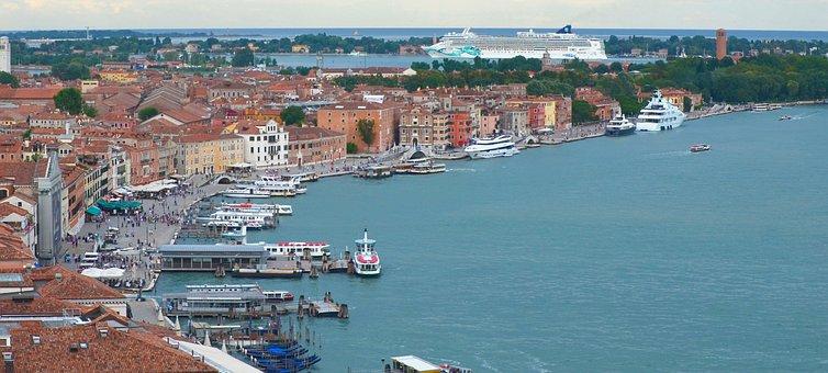 Venice, Port, Italy, Channel, Venezia, Boats, Romantic