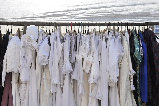 Dresses, Fabric, Dress, Wedding, White, Clothing