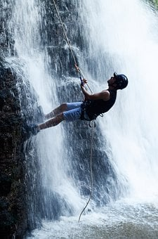 Waterfall Rappelling, Waterfall, Wet, Colonial Corner