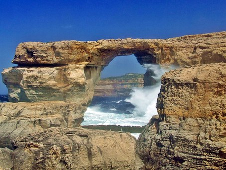 Window, Azure, Azure Window, Gozo, Malta, Rock, Nature