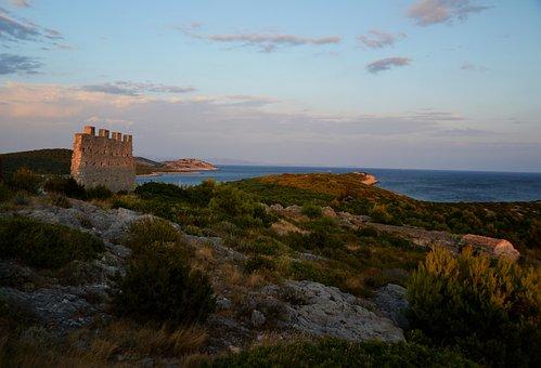 Kornati Islands, Zirje, Croatia, Byzantine Fortress