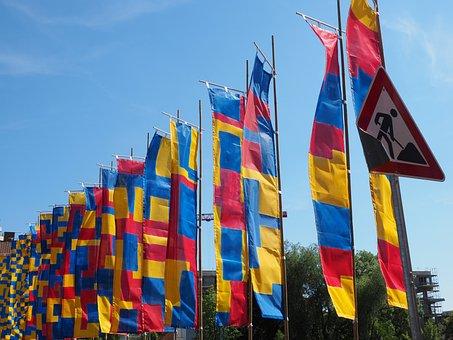 Flags, Blow, Flutter, Commemorative Event