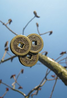 Coins, Chinese, Tree, Luck, Tree Of Happiness