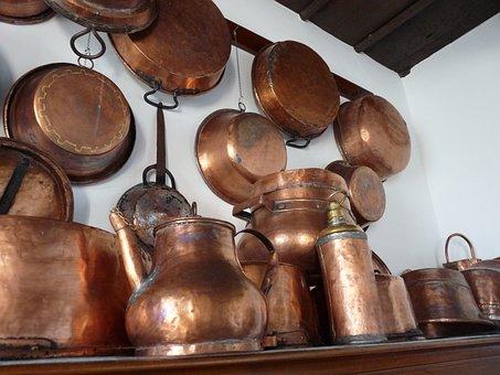 Copper Boiler, Kitchen, Nostalgia, Polished, Shiny