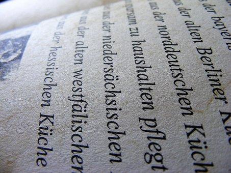 German, Text, Book, Paper, Language, Education, Read