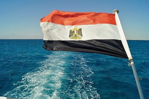 The Flag Of The, Egypt, Sea