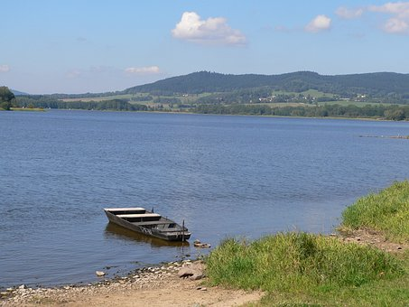 Lipno Lake, Water, Lake, Landscape, Natural Water, Rest