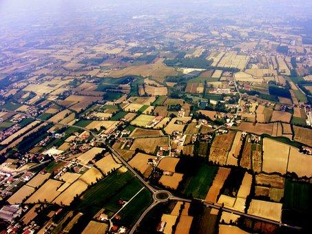 Ground, Cloud, Sky, Height, Air, Plane, Landscape, Blue