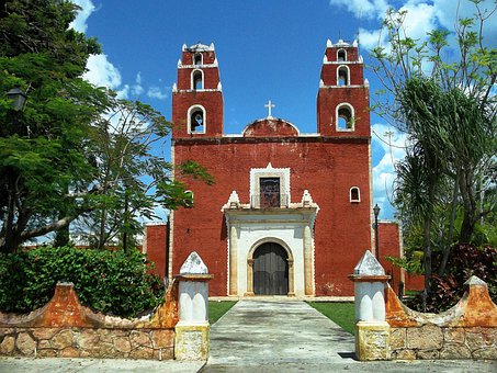 Temax, Mexico, Church, Building, Architecture, Sky