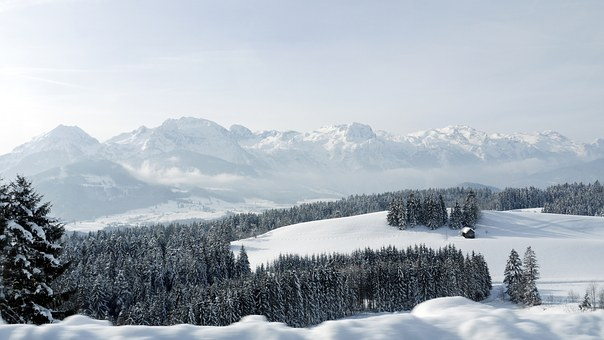 Tennengebirge, Alpine, Mountains, Snow, Winter, Austria