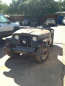 Jeep, Old, Military, Army, Rusty, Dirty