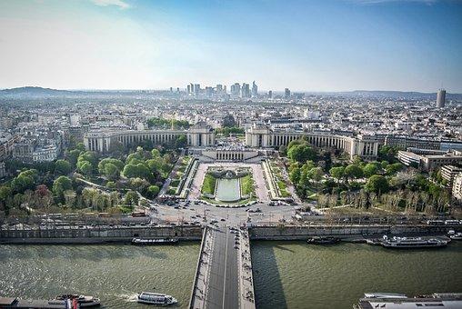 Paris, View, France, Urban, City, Panorama, Panoramic