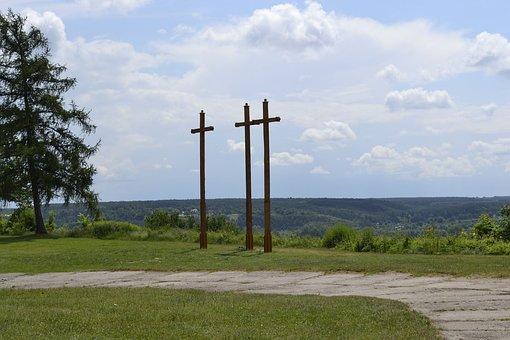 Three Crosses, Janowiec, Panorama