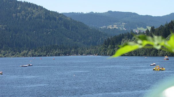 Titisee, Black Forest, Forest, Blue, Lake, Water