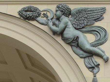 Angel, Ornament, Arch, Decor, Decoration, Wings, Figure