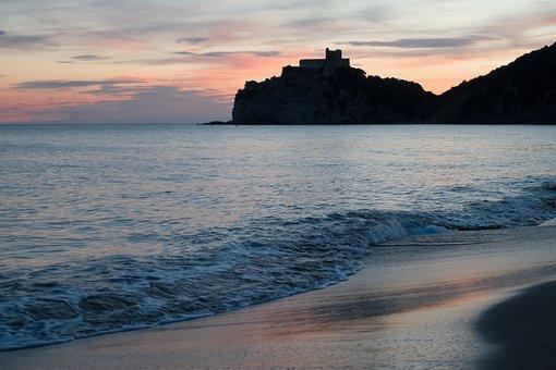 Water, Sea, Lake, Clouds, Evening, Coast, Sand