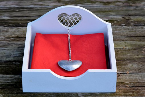 Napkins, Napkins Holder, Heart, Decoration
