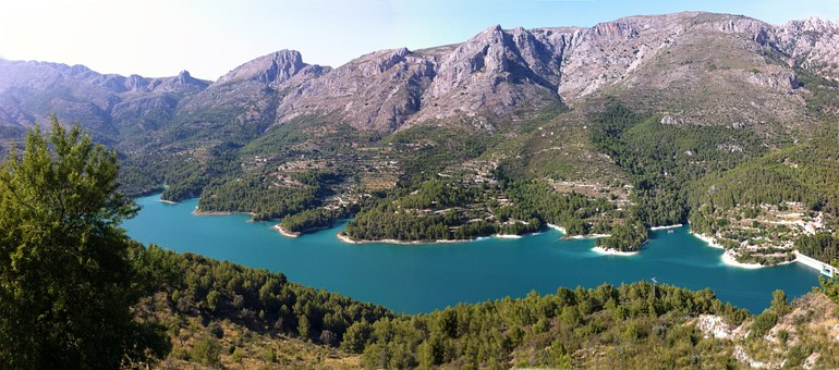 Guadalest, Spain, Lake, Dam, Panoramic