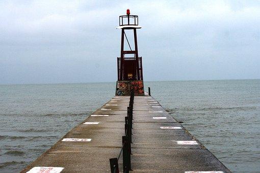 Lake Michigan, Water, Pier, Harbor, Outdoors, Cityscape
