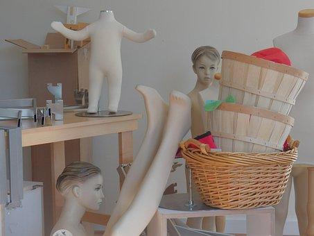 Manikins, Mannequins, Dummies, Body Parts, Head, Body