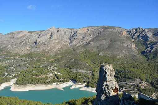 Guadalest, Lake, Nature, Landscape, Spain, Mountain