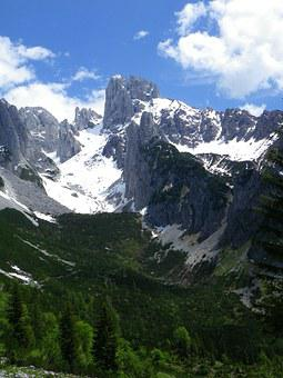 Bischofsmütze, Mountains, Alpine, Landscape, Hiking