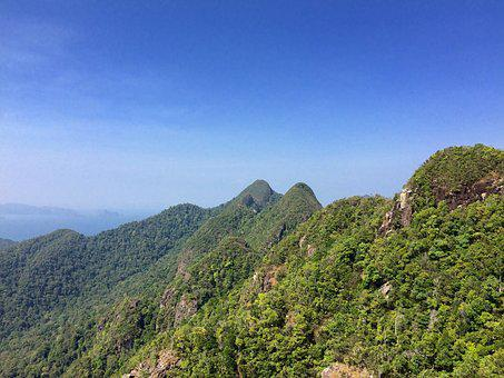 Jungle, Langkawi, Mountains, Forest, Green, View, Sky