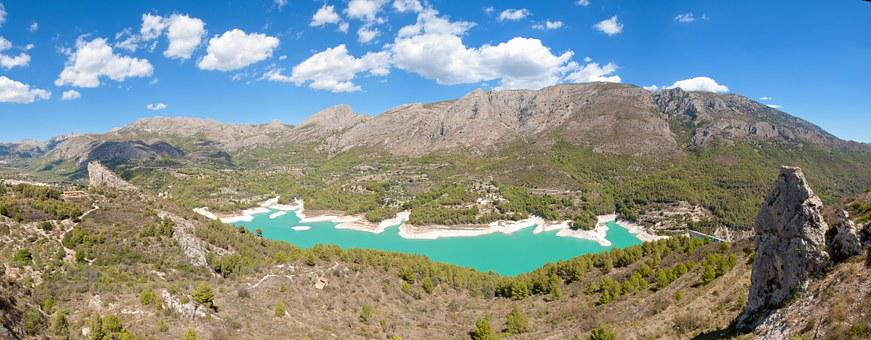 Guadalest, Lake, Landscape, Spain, Outdoors, Mountains