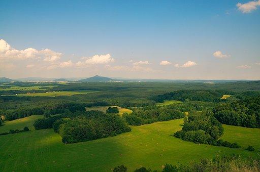 Bohemia, Landscape, Bezděž, Northern Bohemia, Forests
