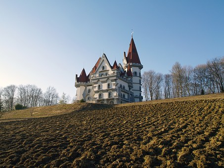 Castle, Field, Landscape, Outdoor, Europe, Zagorje