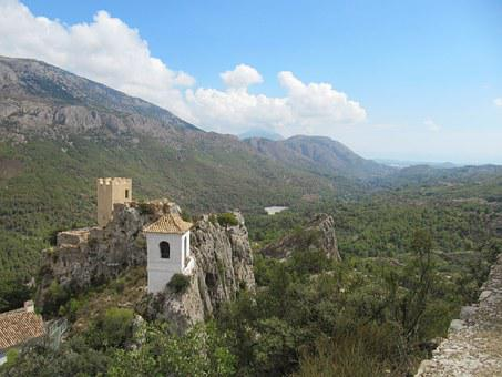 Guadalest, Castle, Landscape, Spain, Rock