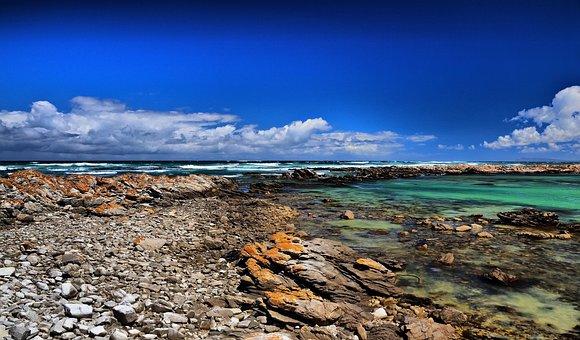 Cape Agulhas, Lagoon, Ocean, Blue, Rocks, Nature