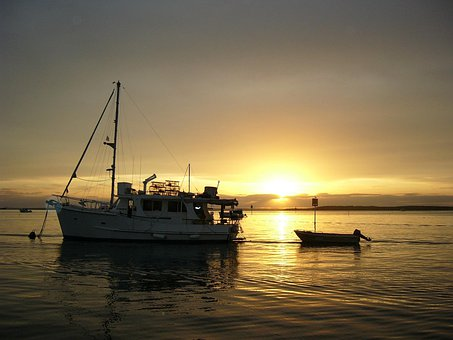 Sunset, Boats, Sea, Boating, Tourism, Romantic, Evening