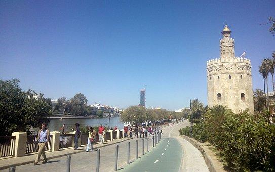 Seville, River, Gold Tower