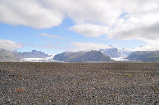 Iceland, Glacier, Skaftafell, Ice, Landscape