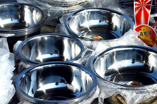Objects, Bowls, Stainless, Stainless Steel, Bowl, Metal